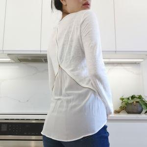 Sandro 100% Linen long sleeve top